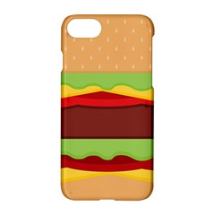Vector Burger Time Background Apple Iphone 7 Hardshell Case by Simbadda