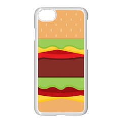 Vector Burger Time Background Apple Iphone 7 Seamless Case (white) by Simbadda