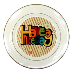 Have A Nice Happiness Happy Day Porcelain Plates by Simbadda