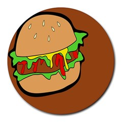 Burger Double Round Mousepads by Simbadda