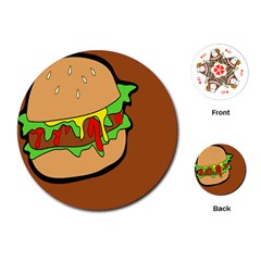 Burger Double Playing Cards (round)  by Simbadda
