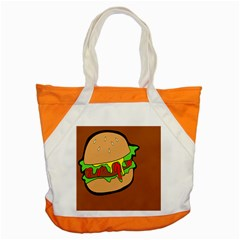 Burger Double Accent Tote Bag by Simbadda