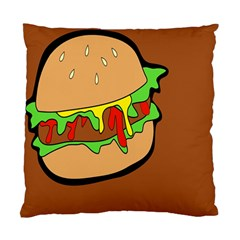 Burger Double Standard Cushion Case (two Sides) by Simbadda