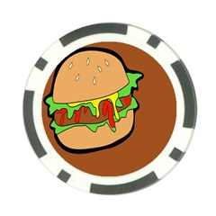 Burger Double Poker Chip Card Guard (10 Pack)