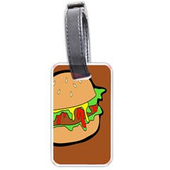 Burger Double Luggage Tags (one Side)