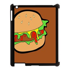 Burger Double Apple Ipad 3/4 Case (black) by Simbadda