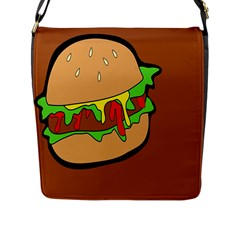 Burger Double Flap Messenger Bag (l)  by Simbadda