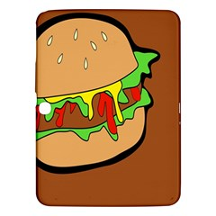 Burger Double Samsung Galaxy Tab 3 (10 1 ) P5200 Hardshell Case  by Simbadda