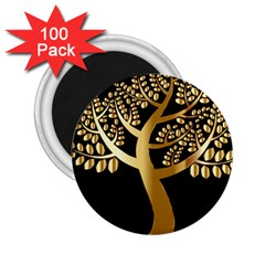 Abstract Art Floral Forest 2 25  Magnets (100 Pack)  by Simbadda