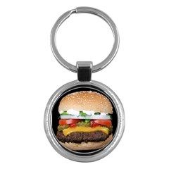 Abstract Barbeque Bbq Beauty Beef Key Chains (round)  by Simbadda