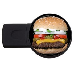 Abstract Barbeque Bbq Beauty Beef Usb Flash Drive Round (4 Gb) by Simbadda