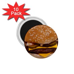 Cheeseburger On Sesame Seed Bun 1 75  Magnets (10 Pack)