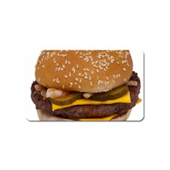 Cheeseburger On Sesame Seed Bun Magnet (name Card) by Simbadda