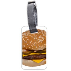 Cheeseburger On Sesame Seed Bun Luggage Tags (one Side)