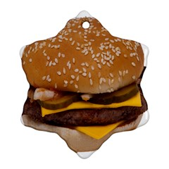 Cheeseburger On Sesame Seed Bun Ornament (snowflake)