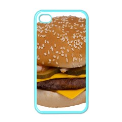 Cheeseburger On Sesame Seed Bun Apple Iphone 4 Case (color) by Simbadda