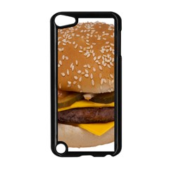 Cheeseburger On Sesame Seed Bun Apple Ipod Touch 5 Case (black) by Simbadda