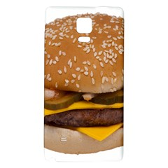 Cheeseburger On Sesame Seed Bun Galaxy Note 4 Back Case by Simbadda