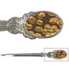 A Fun Cartoon Cheese Burger Tiling Pattern Letter Openers