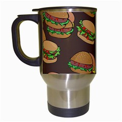 A Fun Cartoon Cheese Burger Tiling Pattern Travel Mugs (white) by Simbadda