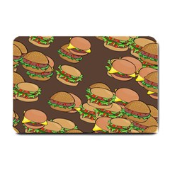 A Fun Cartoon Cheese Burger Tiling Pattern Small Doormat  by Simbadda