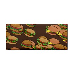 A Fun Cartoon Cheese Burger Tiling Pattern Cosmetic Storage Cases by Simbadda