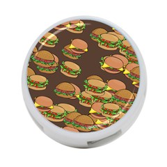 A Fun Cartoon Cheese Burger Tiling Pattern 4 Port Usb Hub (two Sides)