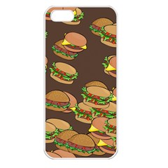 A Fun Cartoon Cheese Burger Tiling Pattern Apple Iphone 5 Seamless Case (white) by Simbadda
