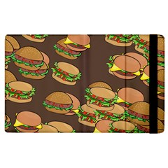A Fun Cartoon Cheese Burger Tiling Pattern Apple Ipad 3/4 Flip Case by Simbadda