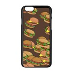 A Fun Cartoon Cheese Burger Tiling Pattern Apple iPhone 6/6S Black Enamel Case Front