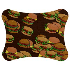 A Fun Cartoon Cheese Burger Tiling Pattern Jigsaw Puzzle Photo Stand (bow) by Simbadda