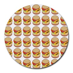 Hamburger Pattern Round Mousepads