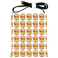 Hamburger Pattern Shoulder Sling Bags by Simbadda