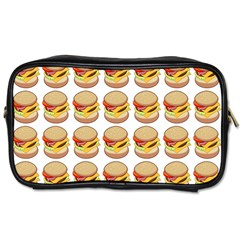 Hamburger Pattern Toiletries Bags 2 Side by Simbadda