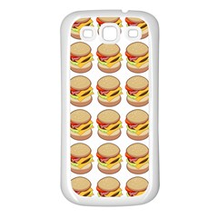 Hamburger Pattern Samsung Galaxy S3 Back Case (white)