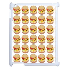 Hamburger Pattern Apple Ipad 2 Case (white) by Simbadda