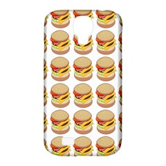 Hamburger Pattern Samsung Galaxy S4 Classic Hardshell Case (pc+silicone) by Simbadda