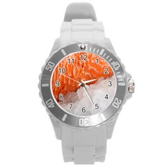 Abstract Angel Bass Beach Chef Round Plastic Sport Watch (l) by Simbadda