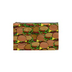 Burger Double Border Cosmetic Bag (small)