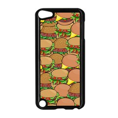 Burger Double Border Apple Ipod Touch 5 Case (black) by Simbadda