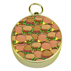 Burger Double Border Gold Compasses