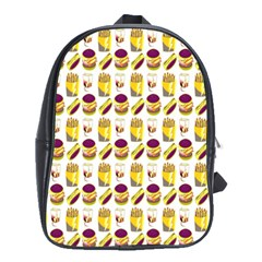 Hamburger And Fries School Bags(large)  by Simbadda