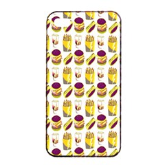 Hamburger And Fries Apple Iphone 4/4s Seamless Case (black)