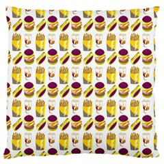 Hamburger And Fries Large Cushion Case (two Sides)