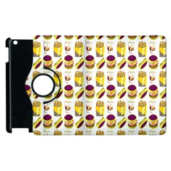 Hamburger And Fries Apple Ipad 2 Flip 360 Case by Simbadda