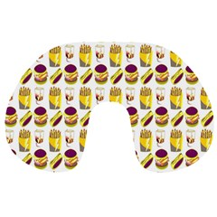 Hamburger And Fries Travel Neck Pillows by Simbadda