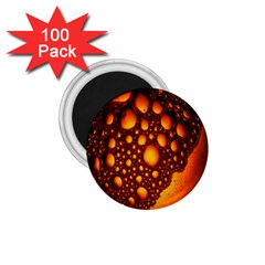 Bubbles Abstract Art Gold Golden 1 75  Magnets (100 Pack)
