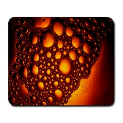 Bubbles Abstract Art Gold Golden Large Mousepads