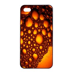 Bubbles Abstract Art Gold Golden Apple Iphone 4/4s Seamless Case (black) by Simbadda
