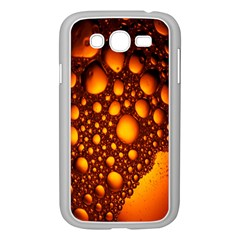 Bubbles Abstract Art Gold Golden Samsung Galaxy Grand Duos I9082 Case (white) by Simbadda